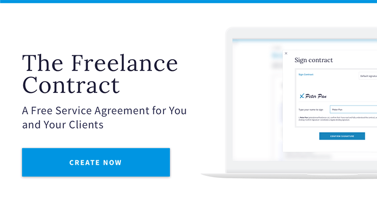 Sign a Freelance Contract